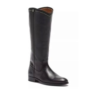 FRYE Melissa Stud Button Riding Leather Boots NEW